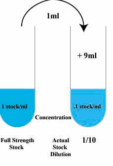 serial dilution rh biology kenyon edu Concentrated Solution dilute solution viscosity diagram