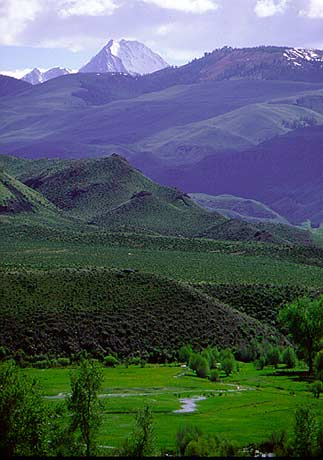 Boulder-White Cloud Mountains, Idaho.  photograph from www.wolf.org